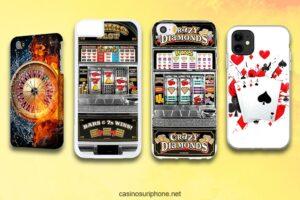 Des coques d'iPhone sur le thème des jeux de casinos